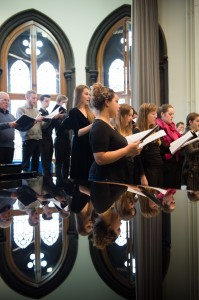 Chapel Choir singing Burns's songs at the concert on 30th January