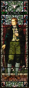 Robert Burns stained glass window