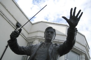 Statue of Ralph Vaughan Williams conducting, Dorking