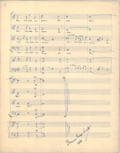 Final bars in fair copy of F. G. Scott's manuscript of 'Ae Fond Kiss'